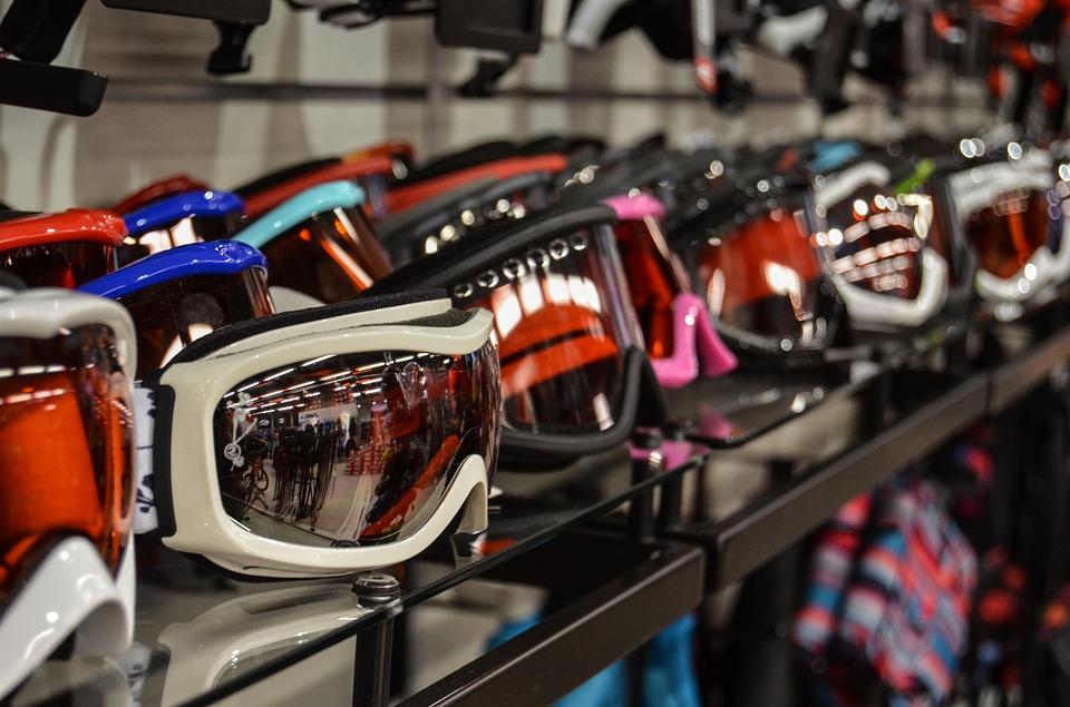 selection of ski goggles