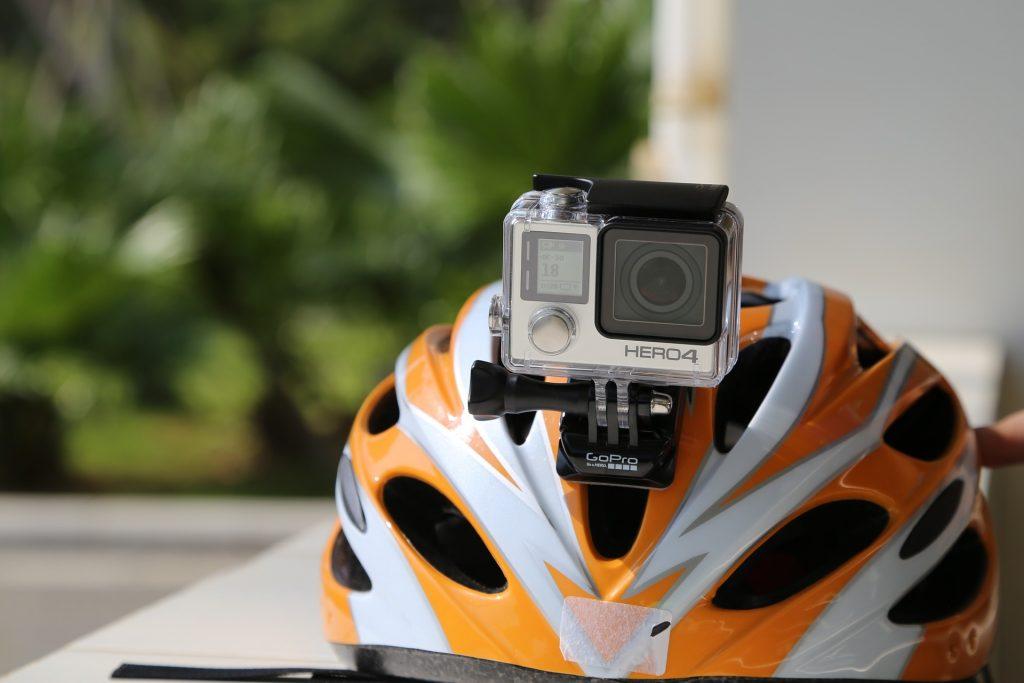 XC helmet with a GoPro mount