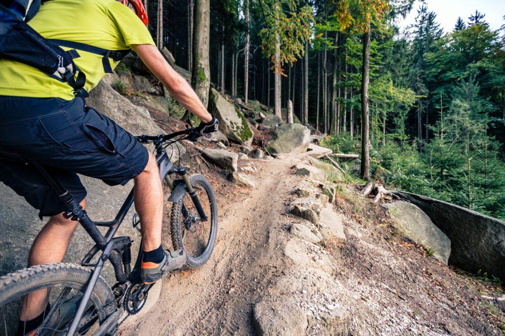 Mountain bike shorts with large pockets
